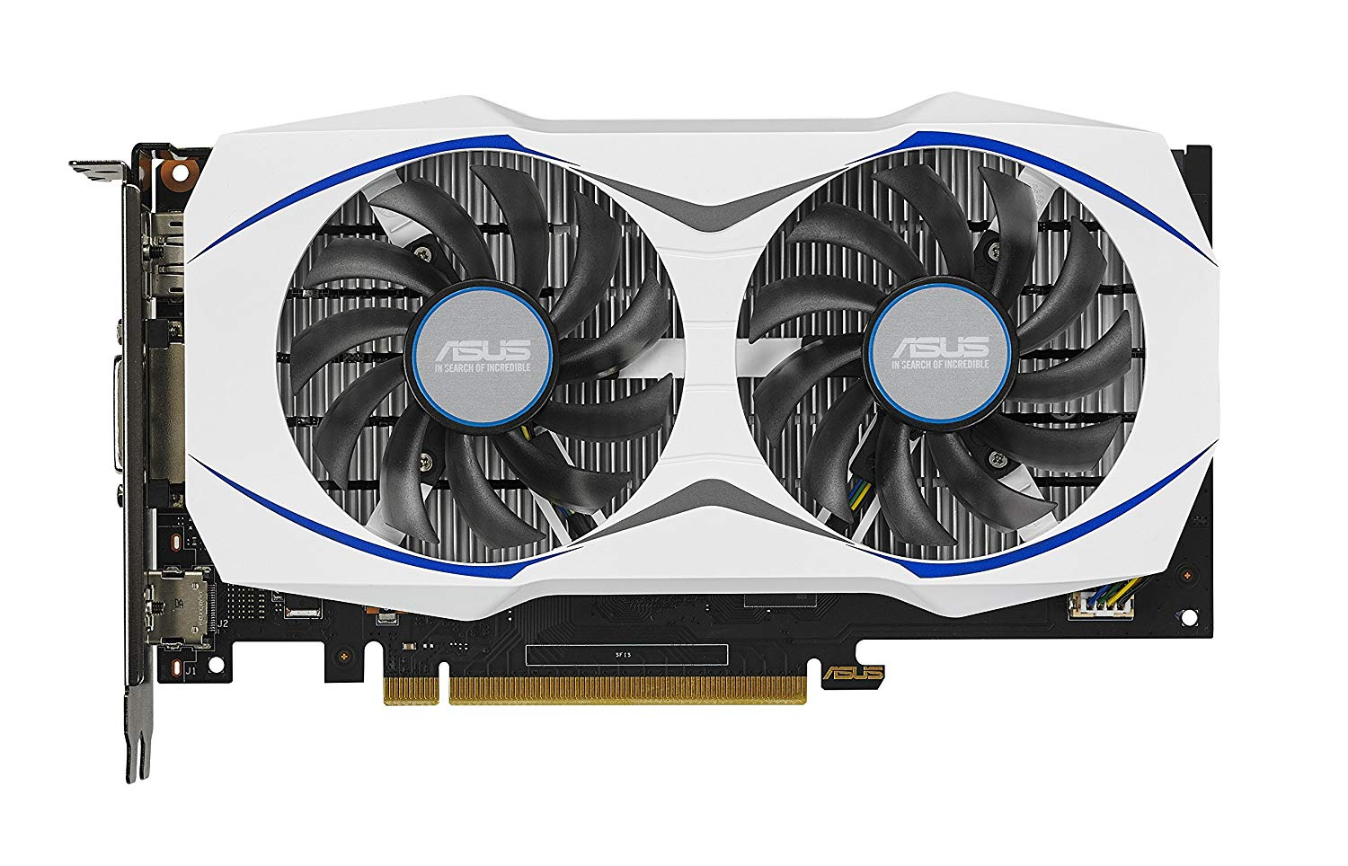 VGA CARD ASUS GTX950-OC-2GD5 DUAL FAN. WHITE
