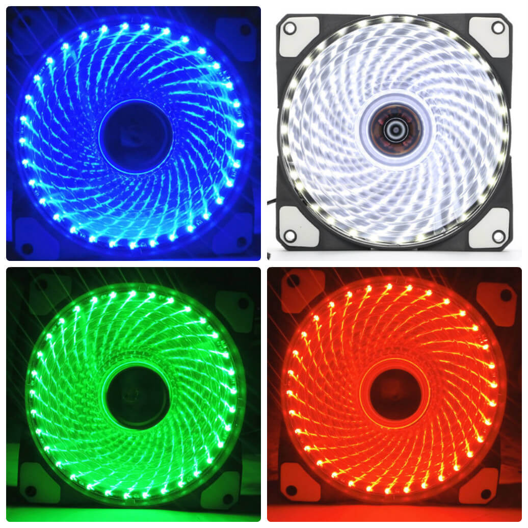Fan case 12cm Led 33 bóng (Green/Red/Blue)